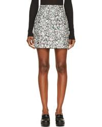 Proenza Schouler Grey Abstract Print Mini Skirt