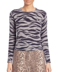 See by Chloe Tiger Printed Mohair Sweater