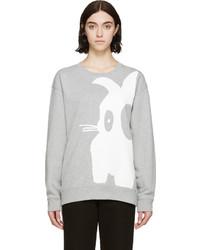 MCQ Alexander Ueen Heather Grey Bunny Sweatshirt