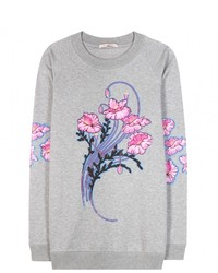 Christopher Kane Bouquet Printed Cotton Sweatshirt