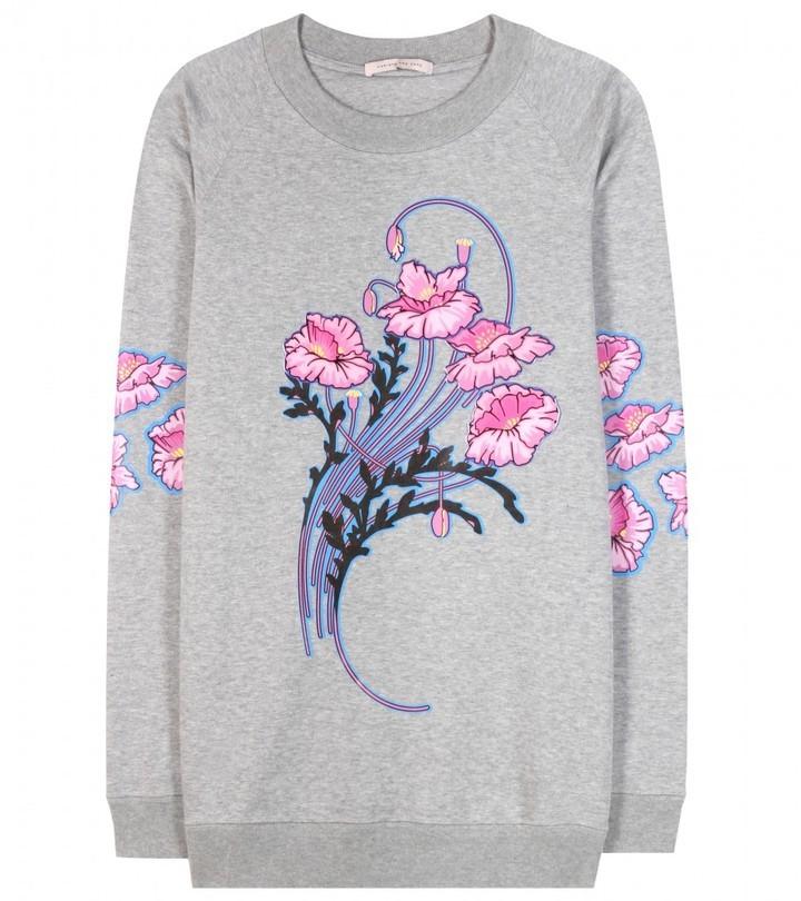 Christopher Kane Bouquet Printed Cotton Sweatshirt
