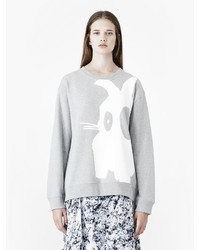 Alexander McQueen Bunny Placet Print Classic Sweatshirt