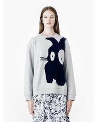 Alexander McQueen Bunny Placet Print Sweatshirt