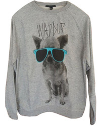 ChicNova Dog Graphic Oversized Sweatshirt