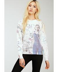 Forever 21 Graffitied Marilyn Monroe Sweatshirt