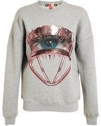 MSGM Unisex Eyelash Curler Printed Cotton Sweatshirt