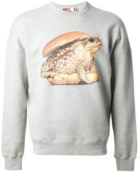 MSGM X Toilet Paper Frog Burger Print Sweatshirt