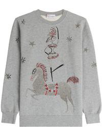 RED Valentino Printed Cotton Sweatshirt