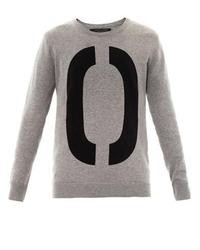 Rag and Bone Rag Bone Number Cotton Knit Sweatshirt