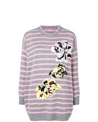 Ermanno Scervino Striped Floral Jumper