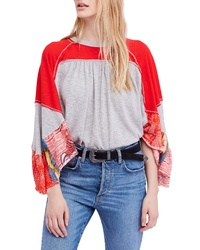 Free People We The Free By Friday Fever Pattern Mix Top