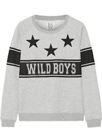 Zoe Karssen Wild Boys Printed Jersey Sweatshirt