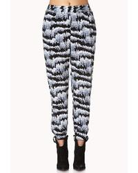 Grey Print Pajama Pants