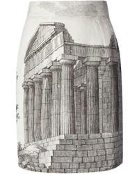 Dolce & Gabbana Amphitheater Print Skirt