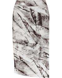 Helmut Lang Terrene Printed Stretch Jersey Skirt