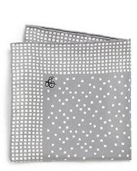 Canali Dot Print Silk Pocket Square