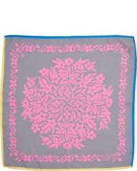 Penrose London Romantic Floral Tile Print Pocket Square