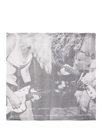 TAKAHIROMIYASHITA TheSoloist. Black And White Silk Kurt Cobain Scarf