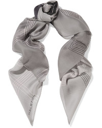 Halston Heritage Grid Printed Silk Chiffon Scarf