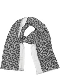 Paisley print silk reversible scarf medium 432365
