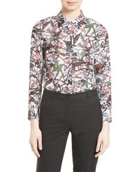 Ted Baker London Lupia Print Peter Pan Collar Shirt