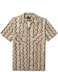 Beams Plus Camp Collar Printed Cotton Shirt