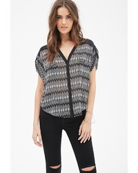 Forever 21 Contemporary Abstract Printed Blouse