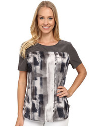 Calvin Klein Jeans Print Block T Shirt Blouse