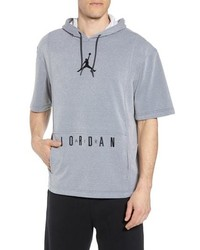 NIKE JORDAN Nike Air Jordon Short Sleeve Basketball Hoodie
