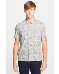 Grey Print Short Sleeve Shirt