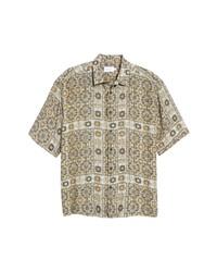 Topman Bandana Print Short Sleeve Button Up Shirt