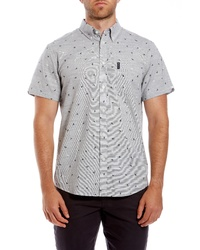 Ben Sherman Bird Print Short Sleeve Sport Shirt