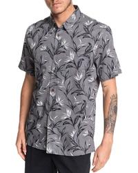 Quiksilver Maze Day Regular Fit Short Sleeve Button Up Shirt