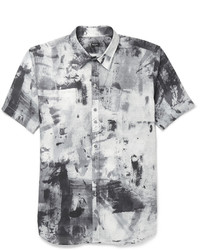 Paul Smith Ps By Printed Cotton Shirt