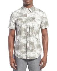 Shin regular fit short sleeve print woven shirt medium 610985