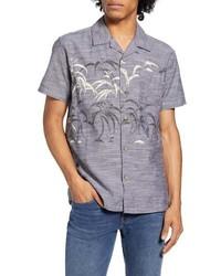 Hurley Sig Zane Kalaukoa Short Sleeve Button Up Camp Shirt