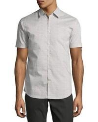 Star usa mini print sport shirt graywhite medium 3942173