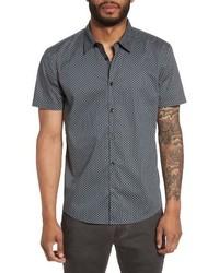 Star usa trim fit print sport shirt medium 4353972