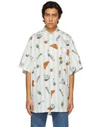 Vetements White Grey Light Summer Short Sleeve Shirt