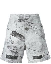 Grey Print Shorts