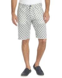 Howe Grey Linen Blend Printed Reversible Hands Down Bike Shorts