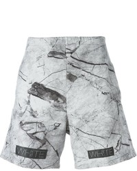 Off-White Marble Print Track Shorts