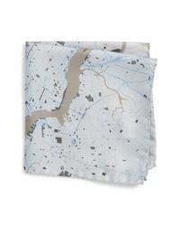 Eton Subway Map Silk Pocket Square