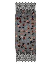 Valentino Garavani Embroidered Butterfly Lace Silk Scarf
