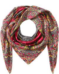 Diane von Furstenberg Silk Scarf With Paisley Print