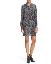 Equipment Clean Lucida Print Silk Shirtdress
