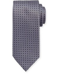 Textured square print silk tie medium 1124944