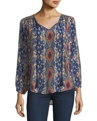 Tolani Janessa Ikat Print Silk Tunic Plus Size
