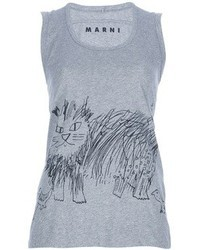 Marni edition cat print jersey vest medium 28003
