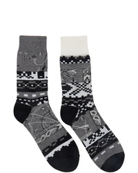 Sacai Grey Dr Woo Edition Cotton Socks